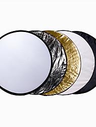 110 cm 43 Zoll 5-in-1 draagbare opvouwbare inklapbare Lamellenlichtreflektor Kit voor Studio& Außen verlichting