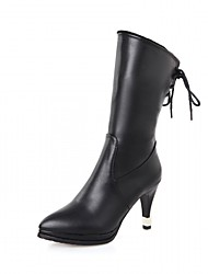 Women's Boots Spring Fall Winter Platform Comfort Novelty Patent Leather LeatheretteWedding Outdoor Office & Career Dress Casual Party &