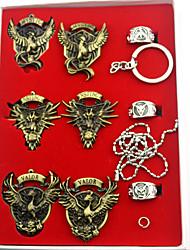 Badge / Plus d'accessoires Inspiré par Pocket Monster PIKA PIKA Anime Accessoires de Cosplay Colliers / Badge / Anneau / Porte-clésDoré /