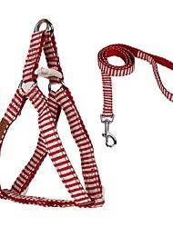 Navy Style Stripe Design Pe ts Walking Harness for Pets Dogs