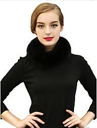 Women Faux Fur Scarf,Vintage Infinity ScarfSolid