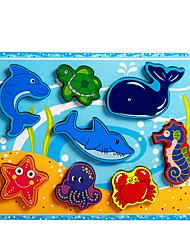 Недорогие -Пазлы / Обучающая игрушка Дельфин / Рыбки / Осьминог Оригинальные Дерево Мальчики / Девочки Подарок