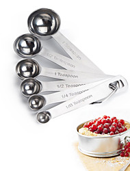 cheap -May Fifteenth 6 Stainless Steel Measuring Spoon Cup Set Hight Quality