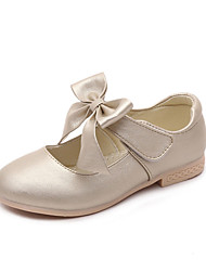 Para Meninas sapatos Couro Ecológico Primavera Outono Conforto Rasos Para Casual Dourado Branco Rosa claro
