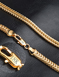 cheap -Men's Women's Fashion Chain Necklace Gold Chain Necklace , Wedding Party Daily Casual