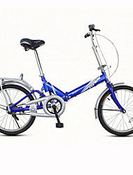 cheap -Folding Bike Cycling 7 Speed 20 Inch Unisex / Men's / Women's V Brake Ordinary Folding Ordinary/Standard Steel Red / Yellow / Blue / White