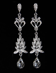 cheap -Women's Drop Earrings Rhinestone Alloy Jewelry Silver Wedding Party Costume Jewelry