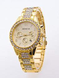 Men's Sport Watch Dress Watch Fashion Watch Wrist watch Simulated Diamond Watch Large Dial Quartz Alloy Band Charm Multi-Colored