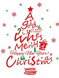 Wall Stickers Wall Decals Style Christmas Tree English Letter PVC Wall Stickers