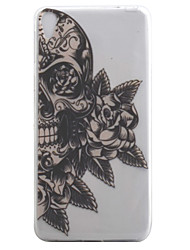 For Sony Xperia E5 XA Case Cover Skull Flower Pattern High Permeability Painting TPU Material Phone Case