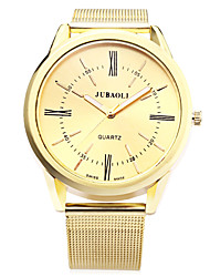 cheap -JUBAOLI Men's Quartz Wrist Watch Hot Sale Alloy Band Charm Casual Fashion Gold