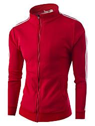 billige -Herre Langærmet Høj krave Sweatshirt - Ensfarvet