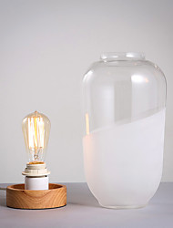Modern/Contemporary Table Lamp  Feature for Eye Protection  with Other Use On/Off Switch Switch Glassshade And Wood Base