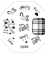cheap -Nail Art Stamp Stamping Image Template Plate QA Series