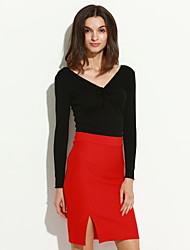 Jupes Aux femmes Au dessus du genou Sexy / Soirée Polyester Elastique