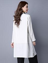 novo inverno retro estilo étnico bordado chinês botões placa longas seções blusão casaco cardigan feminina de algodão