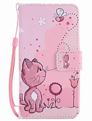 cheap -For LG K10 K7 Case Cover Cats and Bees Painted Lanyard PU Phone Case for NEXUS 5X Lss775 Xpower