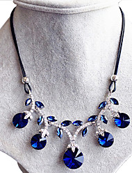 ieftine -Dame Guler Safir Circle Shape Round Shape Geometric Shape Cristal Design Circular La modă Bleumarin Bijuterii PentruNuntă Petrecere