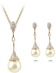 economico -Per donna goccia Forma Lusso Pendente Gioielli importanti Set di gioielli Collana / orecchini Collane Statement Perle finte Perla
