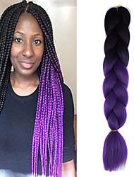 Viola Uncinetto Jumbo Extensions per i capelli 24 Kanekalon 1 filo 100g grammo capelli Trecce