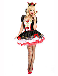 Queen Female Halloween Christmas Carnival Children's Day New Year Oktoberfest Festival/Holiday Halloween Costumes Solid Lace