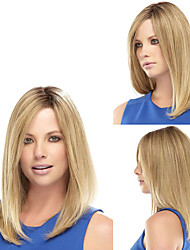 cheap -President's Daugther Wearing Daily Wig Fashion Middle Blonde Straight Natural Synthetic Wigs Heat Resistant Cheap Wig for European Ladies