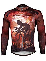 Недорогие -ILPALADINO Муж. Длинный рукав Велокофты Мода Велоспорт Джерси Верхняя часть, Дышащий Быстровысыхающий Ультрафиолетовая устойчивость 100% полиэстер Терилен / Эластичная / Со светоотражающими полосками