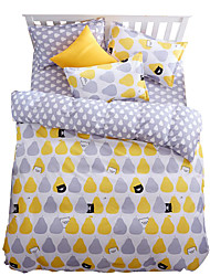 Mingjie Wonderful Yellow Pear Bedding Sets 4PCS for Twin Full Queen King Size from China Contian 1 Duvet Cover 1 Flatsheet 2 Pillowcases
