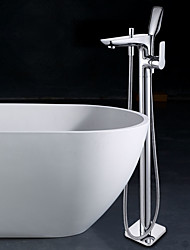 cheap -Bathtub Faucet - Floor Standing Chrome Floor Mounted Single Handle One Hole