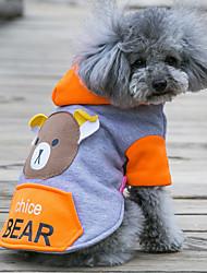 Hund Hættetrøjer Hundetøj Sødt Afslappet/Hverdag Bjørn Orange Rød Grøn Lys pink Kostume For kæledyr
