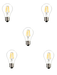 5pcs 6W E26/E27 LED Filament Bulbs A60(A19) 6 High Power LED 560LM Warm White Cold White Decorative AC220-240V