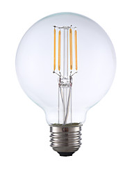 E26 LED Filament Bulbs G80 4 COB 350 lm Warm White 2700 K Dimmable AC 110-130 V