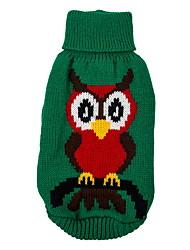 preiswerte -Hund Pullover Weihnachten Hundekleidung Niedlich Tier Rot Grün Kostüm Für Haustiere