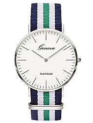 abordables -Mujer Reloj de Pulsera / / Colorido Tejido Banda Casual / Moda / Minimalista Azul / Acero Inoxidable / Tianqiu 377