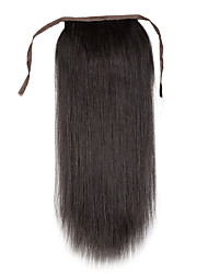 cheap -Clip In Human Hair Extensions Human Hair Straight 1pc/Pack 16 inch 18 inch 20 inch 22 inch 24 inch