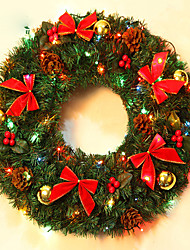cheap -Christmas Wreath Pine Needles Christmas Decoration For Home Party Diameter 40cm Navidad New Year Supplies