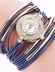 Недорогие -Женские Модные часы Часы-браслет Кварцевый PU Группа Винтаж ПовседневнаяЧерный Белый Синий Красный Оранжевый Коричневый Зеленый Серый