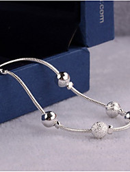 Women's Anklet/Bracelet Sterling Silver Simple Style Jewelry For Wedding Party Daily Casual