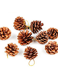 cheap -9Pcs Christmas Decoration Gifts Role Ofing Christmas Tree Ornaments Christmas Gift Christmas Pinecone