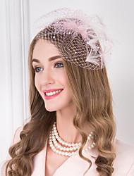 abordables -Imitation de perle Plume Filet Serre-tête Coiffure Casque