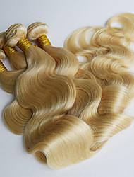 Недорогие -4 Связки Бразильские волосы Естественные кудри Натуральные волосы Precolored ткет волос Ткет человеческих волос Расширения человеческих волос