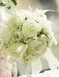 Недорогие -Свадебные цветы Круглый Ручная работа Розы Букеты Свадьба Партия / Вечерняя Шёлк Около 14 см