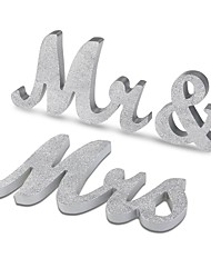 Wooden MR & MRS wedding props wooden furnishing articles English word mother silver bright pink wedding supplies