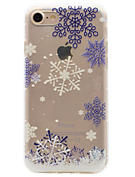 cheap -For iPhone 7 Plus 7 6s Plus 6 Plus 6S 6 TPU Material Snowflake Pattern Winter White Series Cushion Phone Case