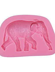 cheap -Elephant Chocolate Cake Mold 3D Animal Silicone Fondant Mould Cake Decorating Tools Cupcake Mold SM-044