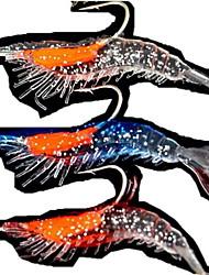 baratos -4 pcs pçs Isco Suave / Amostras moles / Iscas Lagostins-de-rio / Camarão / Jerkbaits Plástico Suave Pesca de Mar / Pesca de Água Doce