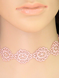cheap -Women's Flower Floral Tattoo Style Flower Style Flowers Fashion European Choker Necklace Collar Necklace Tattoo Choker Lace Choker