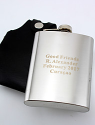 cheap -Personalized Stainless Steel 8-oz  Hip Flask with Holster