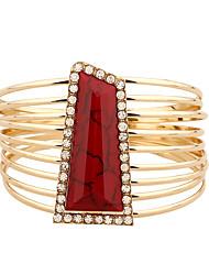 Da donna Dell'involucro del braccialetto imitazione diamante Lega Di tendenza Stile punk Bianco Nero Rosso Verde Gioielli 1 pezzo