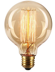 cheap -Ecolight™ 1pc 40W E27 E26 / E27 G80 Warm White 2300k Incandescent Vintage Edison Light Bulb 220-240V